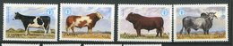 Zambie ** N° 420 à 423 - Elevage Bovin - Zambia (1965-...)