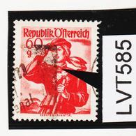 LVT585 ÖSTERREICH 1948 Michl 905 PLATTENFEHLER KRAGENKNOPF Gestempelt - Abarten & Kuriositäten