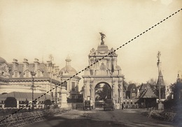 Photographie Exposition Universelle De Bruxelles 1910 Kermesse Bogaarts Garnir - Lieux