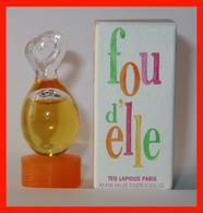 TED LAPIDUS : Fou D'elle, Eau De Toilette 4 Ml. Version 1997, Parfait état - Miniatures Womens' Fragrances (in Box)