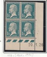 Timbre France Coin Daté Du N° 179 Pasteur ** Luxe Du 20 01  1926 - ....-1929