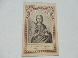 IMAGE PIEUSE   S. AGATHA  S. AGATHE  Edit BENZIGER - Andachtsbilder