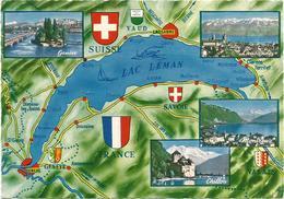 V2904 Lac Leman - Carte Geographique Map Carta Geografica / Non Viaggiata - Carte Geografiche