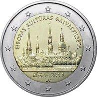 2 Euro UNC LATVIA 2014 (Riga - European Capital Of Culture) - Lettonie