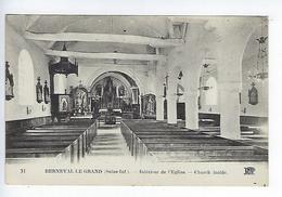 CPA 76 Berneval Le Grand Intérieur De L'Église - Berneval