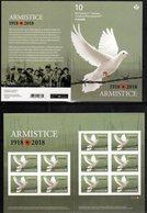 CANADA, 2018, MNH, WWI, ARMISTICE, BIRDS,  BOOKLET - WW1