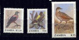 Zambie ** N° 511 - 515 - Oiseaux - Zambia (1965-...)