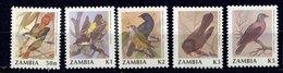 Zambie ** N° 530 à 534 -  Oiseaux - Zambia (1965-...)