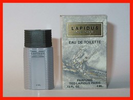 TED LAPIDUS : Lapidus Pour Homme, Eau De Toilette 4 Ml. Version 1987, Parfait état - Miniatures Men's Fragrances (in Box)