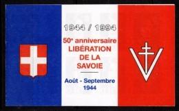 FRANCE - Carnet Pour Le 50ème Anniversaire De La Libération De La Savoie - 2 Scans - 1989-96 Bicentenial Marianne