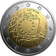 2 Euro UNC LATVIA 2015 (30th Anniversary Of The Flag Of Europe) - Latvia