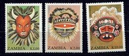 Zambie ** N° 552A à C - Masques - Zambia (1965-...)