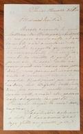 TORINO PARLAMENTO 1860 LUNGA LETTERA ON. ORSETTI ALLA MOGLIE ERSILIA MANSI CON CITAZIONI DI CAVOUR,GARIBALDI....v.note - Documenti Storici