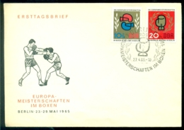 DDR 1965 Ersttagsbrief Europa-Meisterschaften Im Boxen - FDC: Buste
