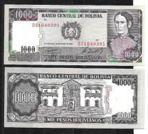 Bolivie :1000 Pesos Bolivianos 1982 (pas Circulé) Neuf - Bolivie