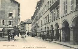 CP 74 Haute Savoie Annecy La Rue Notre Dame - 349 Pittier Phot.edit. Librairie Neuve - Annecy