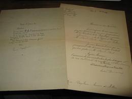 """LETTRE AUTOGRAPHE SIGNEE DE RENE BOYLESVE 1920 ROMANCIER INDRE ACADEMIE """"REVUE BLANCHE"""" + LEON BERARD à FORT - Autógrafos"""