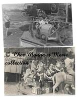 MANEGE CHEVAUX ET VOITURES - LOT DE 2 PHOTOS 9 X 6 CM - Métiers