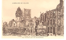 Militaria-Ieper (Ypres)-Guerre 1914-1918-Ruines De L'Hôtel De Ville Après Le Bombardement-Collection Antony D'Ypres - Ieper