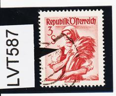 LVT587 ÖSTERREICH 1949 Michl 922 I PLATTENFEHLER RÜSCHERL Gestempelt - Abarten & Kuriositäten