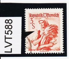 LVT588 ÖSTERREICH 1949 Michl 922 I PLATTENFEHLER RÜSCHERL Gestempelt - Abarten & Kuriositäten