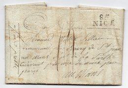 1800--Courrier De NICE (griffe Linéaire) Pour LE MANS - Marcophilie (Lettres)