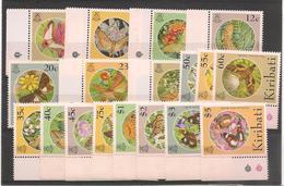 KIRIBATI Papillons Année 1994 N° Y/T : 323/340** Côte : 33,50 € - Kiribati (1979-...)