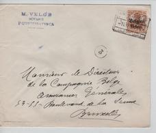 JS599/ Guerre-Oorlog 14-18 TP Oc 15 S/L.Entête Velge Notaris St.Quintens Lennick C.St.Kwintens 1917 V.BXL - Guerre 14-18