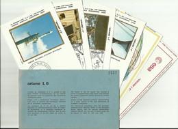 Lancement Fusée ARIANE L6 - 16/06/1983 - Pochette Lancement CNES - 7 Documents - CENTRE SPATIAL GUYANAIS - ESPACE - Europa