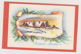 194 - MIGNONETTE BONNE ANNEE . HOUE VILLAGE DANS PAYSAGE ENNEIGE - Neujahr