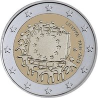 LITHUANIA_2 Euro UNC 2015 (30th Anniversary Of The Flag Of Europe) - Litauen