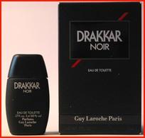 GUY LAROCHE : Drakkar Noir, Eau De Toilette 5 Ml. Version 1982, Parfait état - Miniatures Men's Fragrances (in Box)