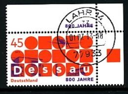 GERMANY Mi.Nr. 3019 800 Jahre Dessau - Eckrand Oben Rechts - Used - Oblitérés