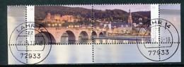 GERMANY Mi.Nr. 3028-3029 Stadtansicht Von Heidelberg Mit Alter Brücke über Den Neckar - Eckrand Unten Rechts - Used - Oblitérés