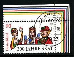 GERMANY Mi.Nr. 3030 200 Jahre Skat - Eckrand Oben Rechts - Used - Oblitérés