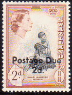 SWAZILAND 1961 SG D3 2d On 2d MNH Postage Due - Swaziland (...-1967)