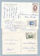 N° 1082 + 1083 + 1085 Sur 3 CP De 1957 - Postmark Collection (Covers)