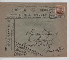 JS600/ Guerre-Oorlog 14-18 TP Oc 30 S/L.Entête Impe-Doussy Apotheek-Pharmacie/Drogerij-Droguerie C.Etappen 1917 V.BXL - WW I