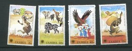 Zambie ** N° 193 à 196 - Année De L' Enfant - Oiseaux - Lapin - Zambia (1965-...)