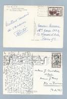 N° 1100 Et 1102 Sur 2 CP De 1957 - Postmark Collection (Covers)