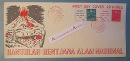 INDONESIE 1963 FDC Bantulah Bentjana Alam Nasional - Cachet DJAKARTA - First Day Cover - Premier Jour INDONESIA - Indonésie