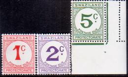 SWAZILAND 1961 SG D4-D6 Compl.set MNH Postage Due - Swaziland (...-1967)