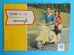 Yugoslav Vintage Brochure - NSU PRIMA V III German Scooter Motorcycle (Pretis) * Moto Motorrad Motociclo Motorbike Vespa - Moto