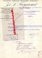 75- PARIS- RARE LETTRE J. & L. FREMICOURT- FILATURE CORDERIE FICELLERIE CABLERIE-ACIER-82 RUE SAINT LAZARE-1928 - Petits Métiers