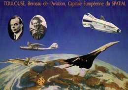 TOULOUSE  Berceau De L'Aviation Capitale Europeéenne Du SPATIAL RV  100 Ans De Clement ADER A HERMES 11 Salon 23 4 1989 - Toulouse