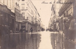 Photo Carte Des Inondations De Liège Rue De L'Université Circulée En 1924 - Liege
