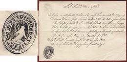 APPIGNANO CONVENTO DI S.FRANCESCO DI FORANO 15/7/54  DOCUMENTO CON SIGILLO E FIRMA FRATE GUARDIANO VALENTINO D'AGUGLIANO - Documenti Storici