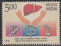 INDIA 2018  National Viral Hepatitis Central Programme, Medical,  1v, MNH(**) - Inde