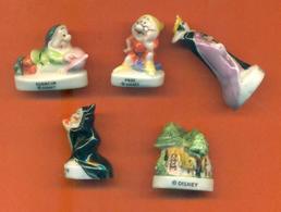 Serie Incomplète De 5/12 Feves Blanche Neige 1998 - Disney