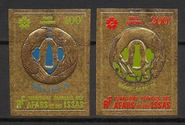 Afars Et Issas - 1970 - PA N°Yv. 64 à 65 - Osaka - GOLD - Non Dentelé / Imperf. - Neuf Luxe ** / MNH / Postfrisch - Afars Et Issas (1967-1977)